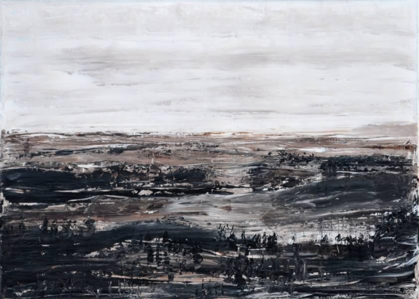 Braune Landschaft, Gemälde